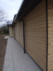 Timber Cladding finished in Homegrown Larch